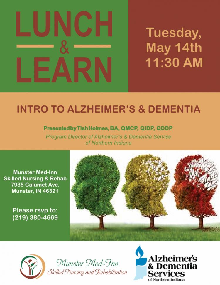 Lunch & Learn- Intro to Alzheimers & Dementia