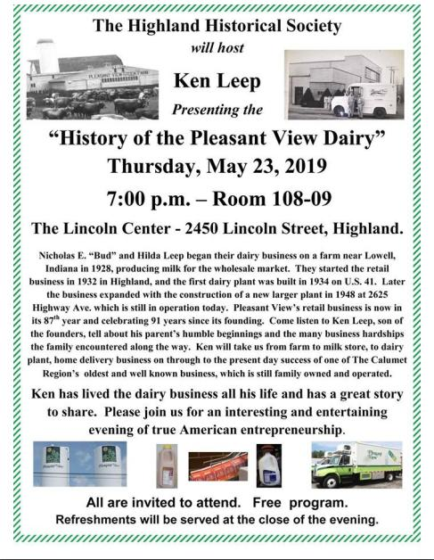 History of the Pleasant View Dairy