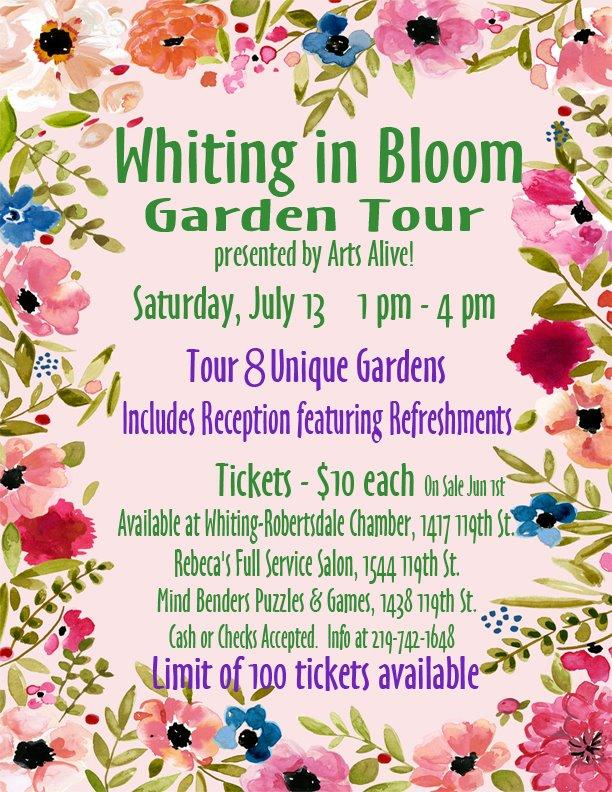 Whiting in Bloom Garden Tour