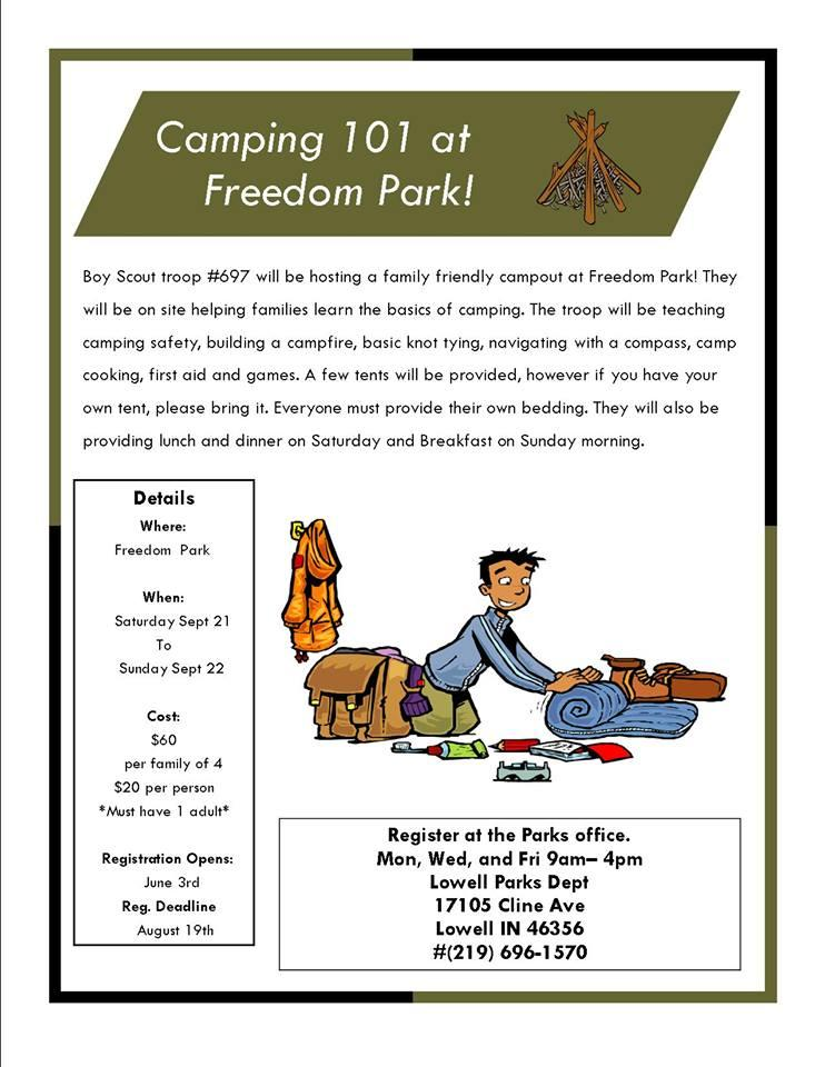 Camping 101 at Freedom Park in Lowell
