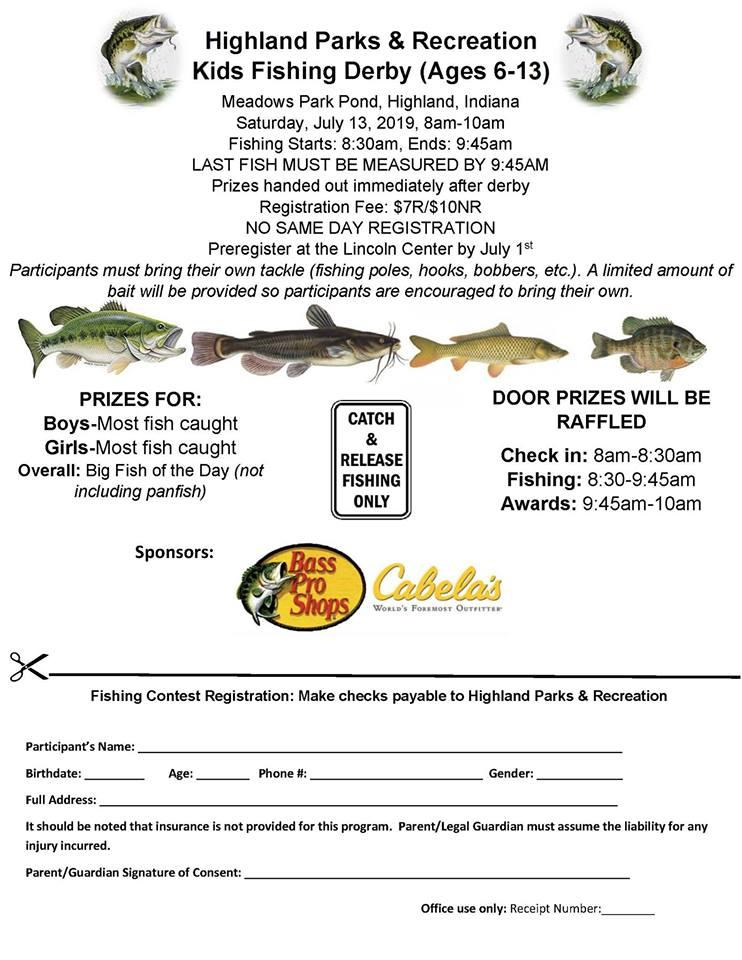 Kid's Fishing Contest in Highland