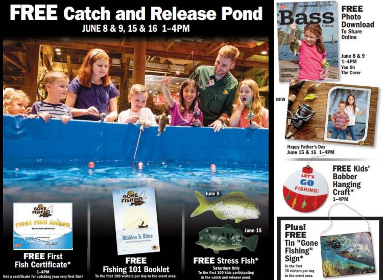 Free Catch & Release Pond at Cabela's