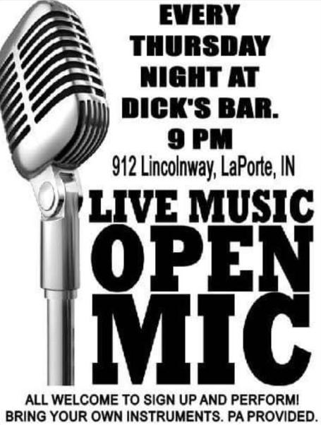 Live Music Open Mic at Dick's Bar