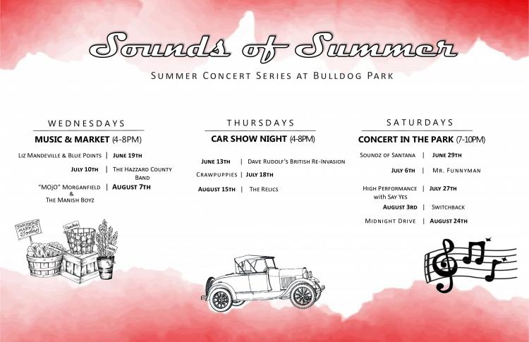 Sounds of Summer- Summer Concert Series at Bulldog Park