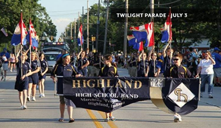 Twilight Parade in Highland