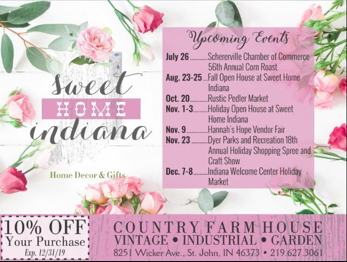 Sweet Home Indiana Events & Coupon!