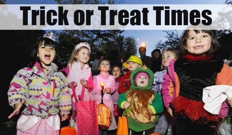 2019 Trick or Treat Times In Your Town