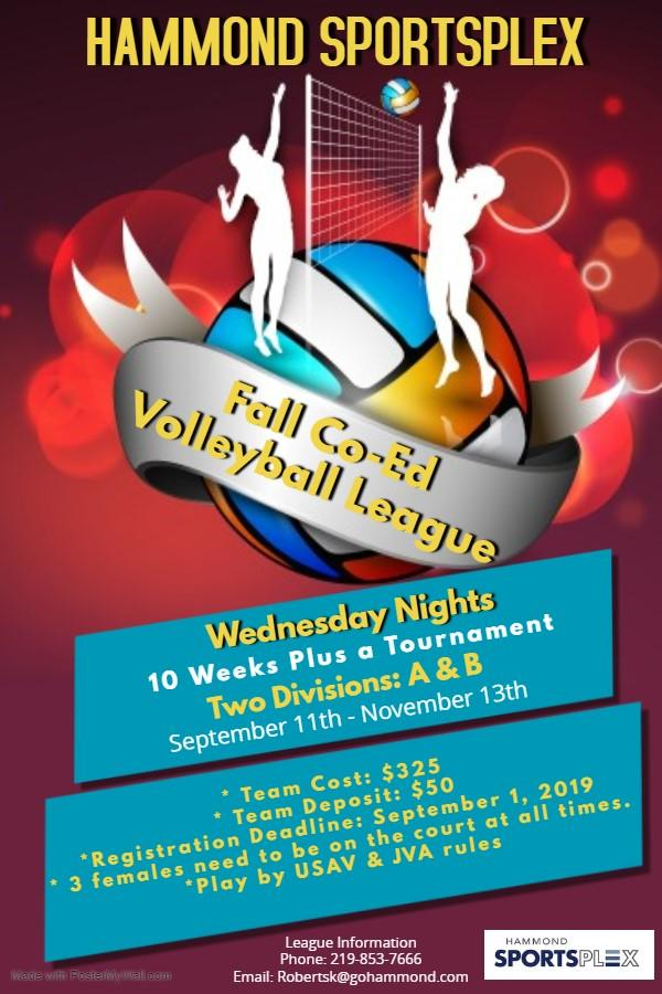 Register for Fall Co-Ed Volleyball in Hammond