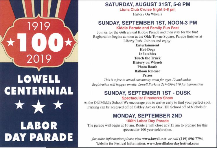 Lowell Labor Day Festival, Fireworks, & Parade!