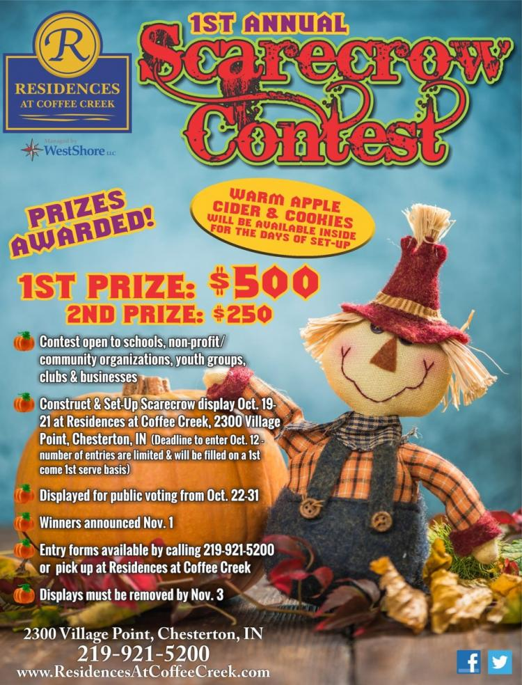 1st Annual Scarecrow Contest