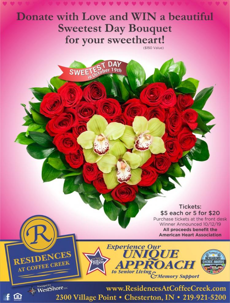 Win a Beautiful Sweetest Day Bouquet!