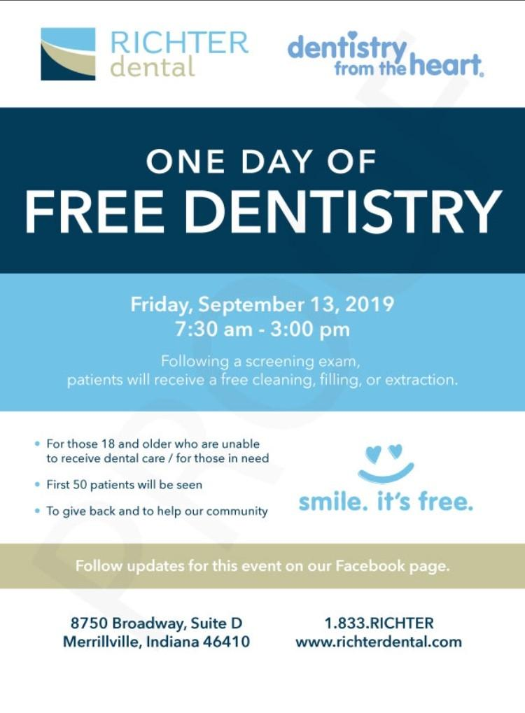 One Day of Free Dentistry!