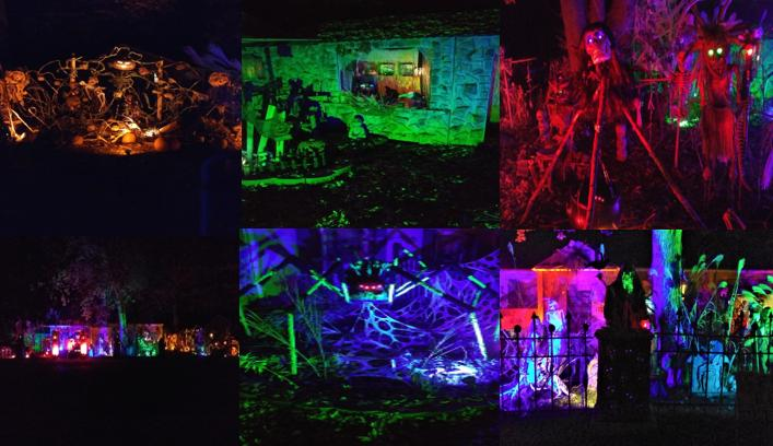 Halloween Decorated Home- Ravenfell Manor Yard Haunt 715 W. Alice St., Kouts