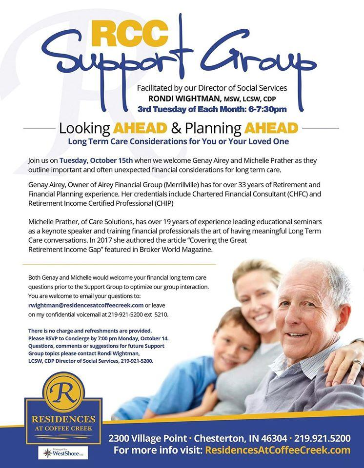 RCC Support Group at Residences at Coffee Creek