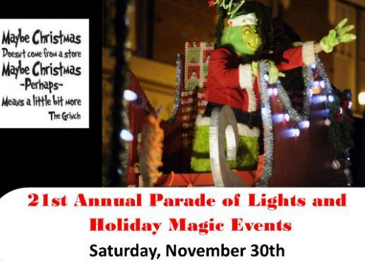 PROMOTE YOUR BUSINESS at Lowell's Parade & Holiday Magic Events