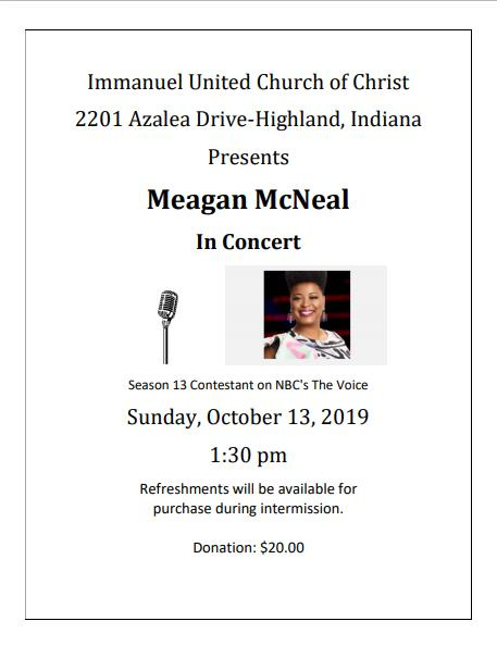 Meagan McNeal in Concert
