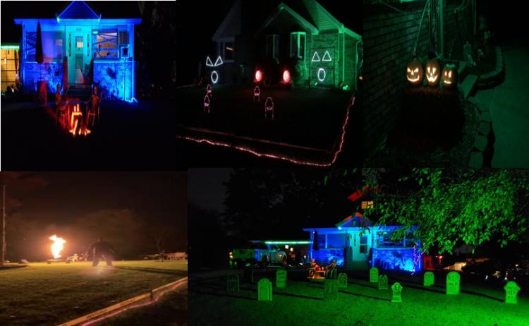 Halloween Decorated Home- 3635 E 33rd Ave., Hobart