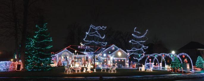 Decorated Christmas Home in Portage