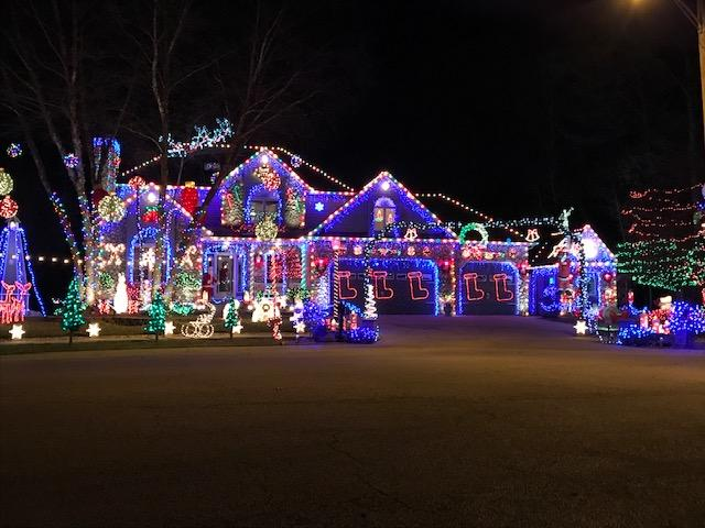 Decorated Christmas Home-  2140 McCool Road Portage