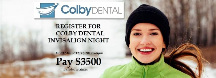 REGISTER FOR...Invisalign Night at Colby Dental--SAVE $1500!