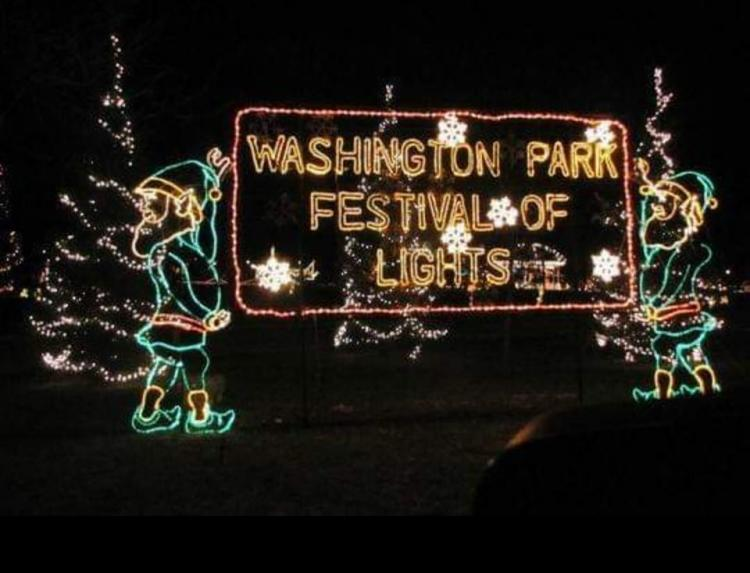 Holiday Lights in Washington Park