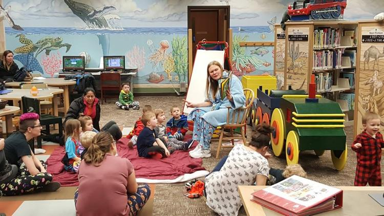 Pajama Story Time at the Lowell Library