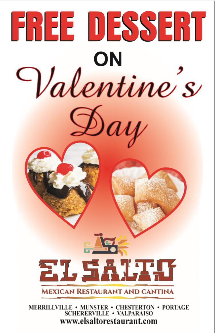 FREE Dessert at El Salto on Valentine's Day!
