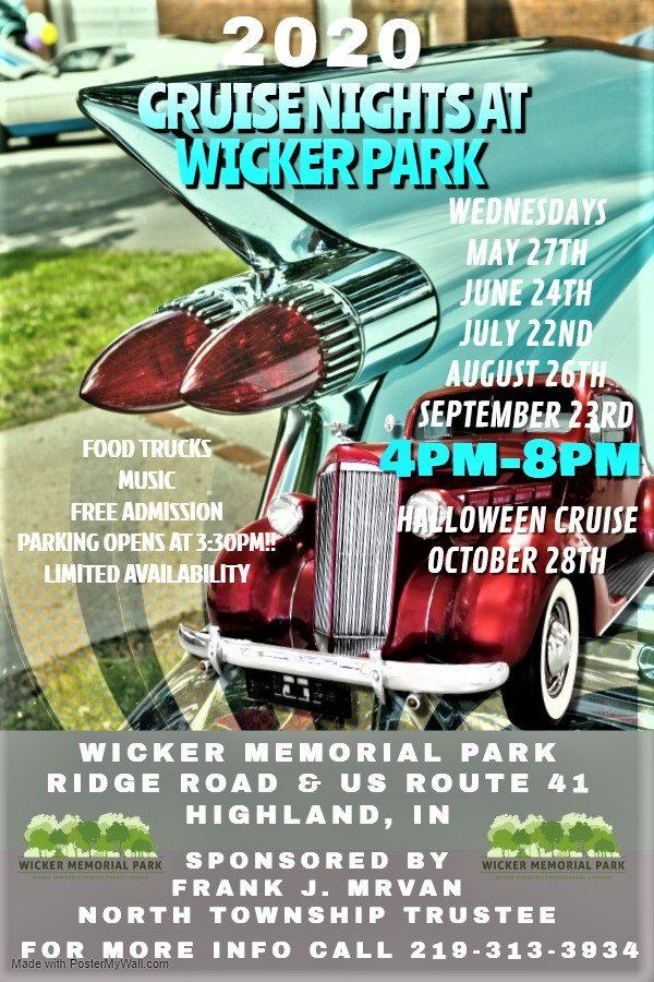 Cruise Nights at Wicker Park in Highland- CANCELLED