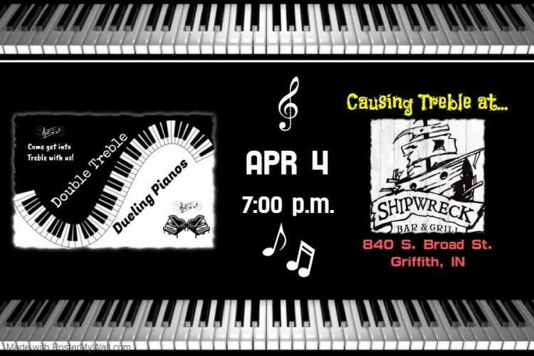 Double Treble Dueling Pianos at Shipwreck Bar & Grill