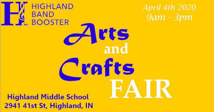 Highland Band Boosters' Spring 2020 Craft Fair