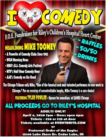 I Love Comedy- Fundraiser for Riley's