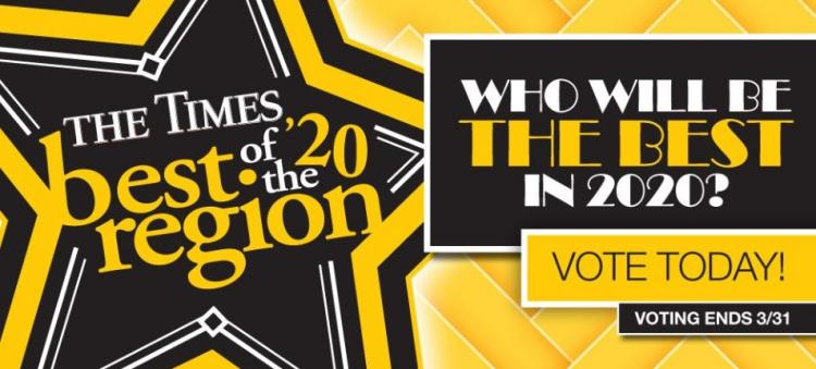VOTE for your Favorite Businesses in the THE TIMES BEST OF THE REGION 2020