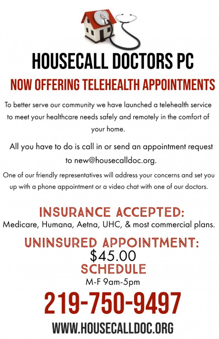 Housecall Doctors Now Offering Telehealth Appointments