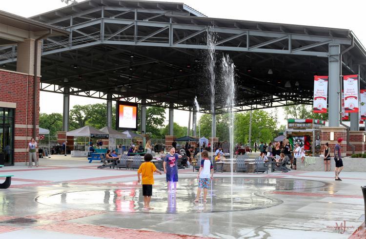 Splash Pad at Bulldog Park in Crown Point