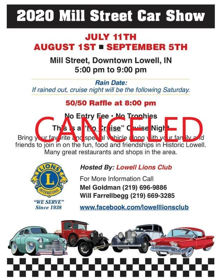 2020 Mill Street Car Cruise-CANCELLED
