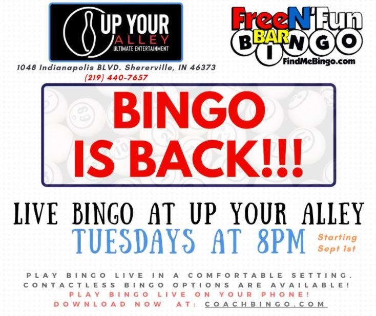 Free N' Fun Bar Bingo at Up Your Alley
