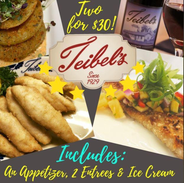 Two Meals for Thirty Dollars at Teibel's Family Restaurant
