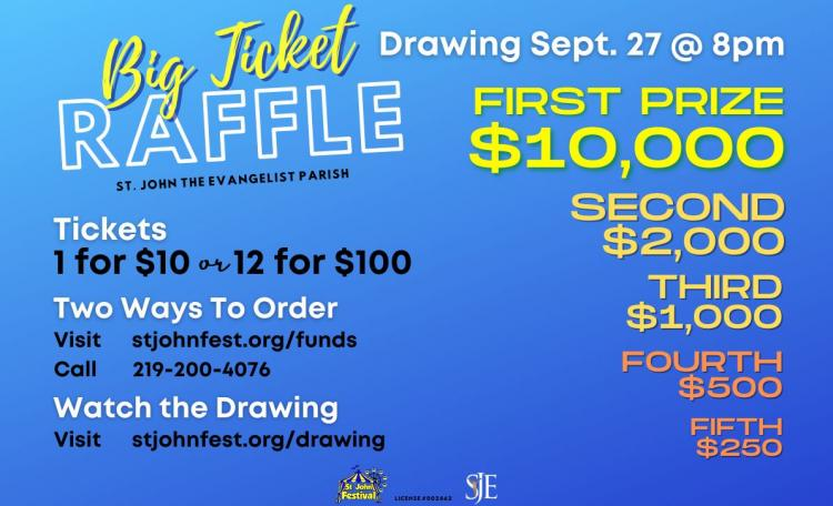 Purchase your RAFFLE TICKETS for a chance to win $10,000!