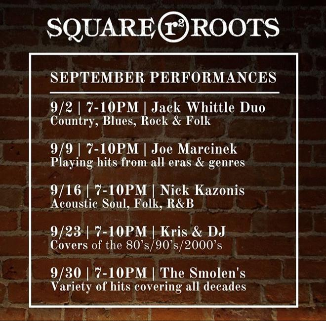 Square Roots September Performances