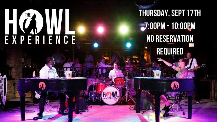 Howl2GO Dueling Pianos x Up Your Alley