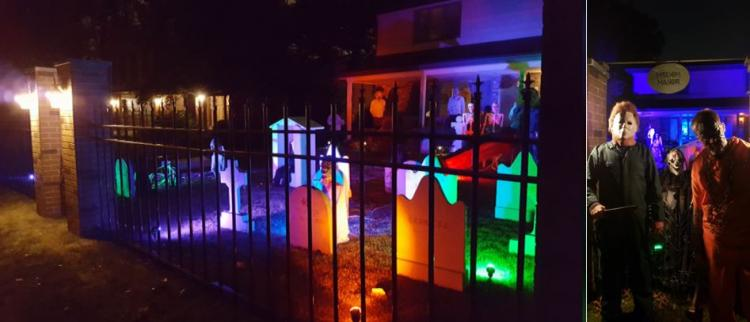 Halloween Decorated Home in Munster, 1009 Melbrook Drive