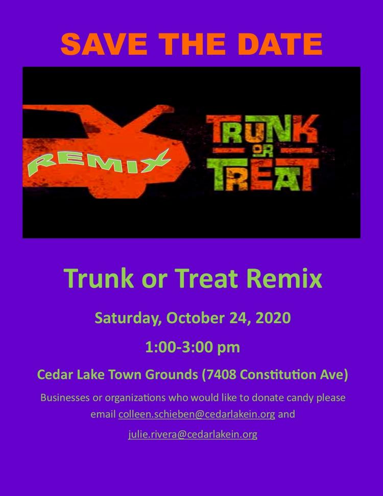 Cedar Lake Trunk or Treat Remix