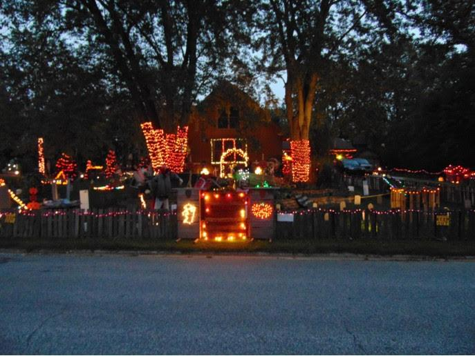 Halloween Decorated Home in Valparaiso, 609 Partridge Path