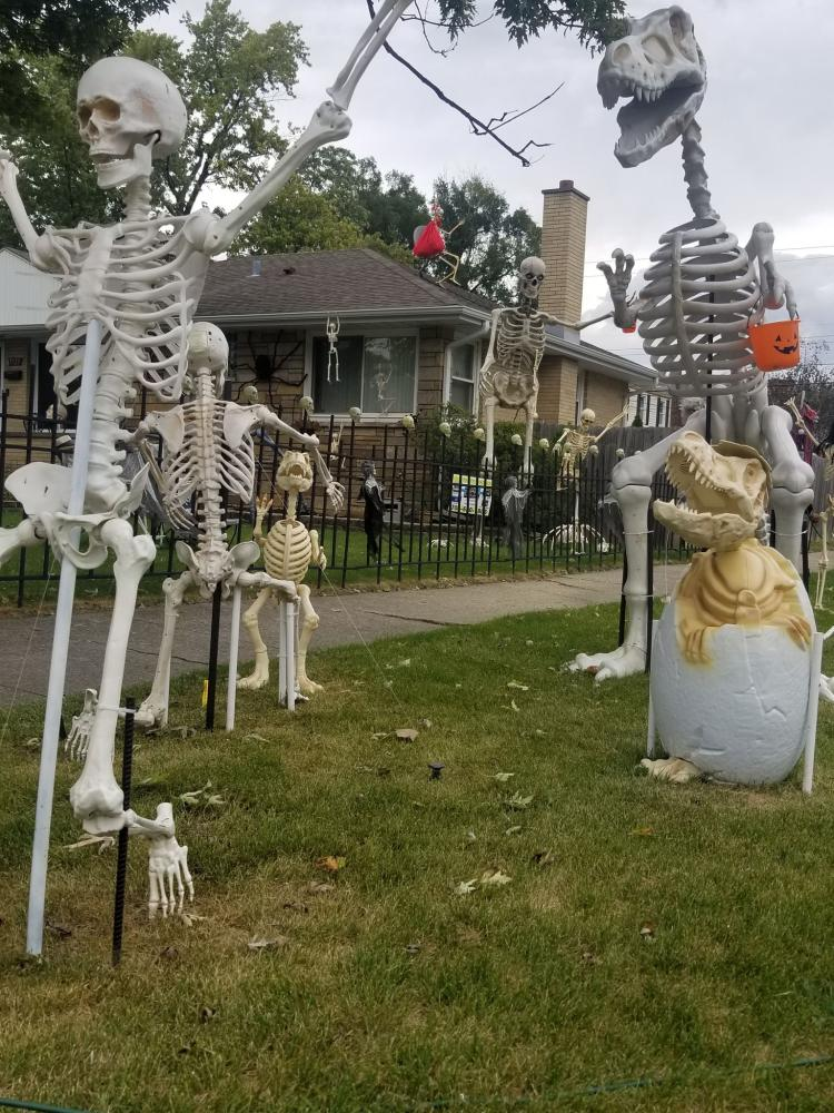 Halloween Decorated Home in Munster, 7723 Hohman Ave.