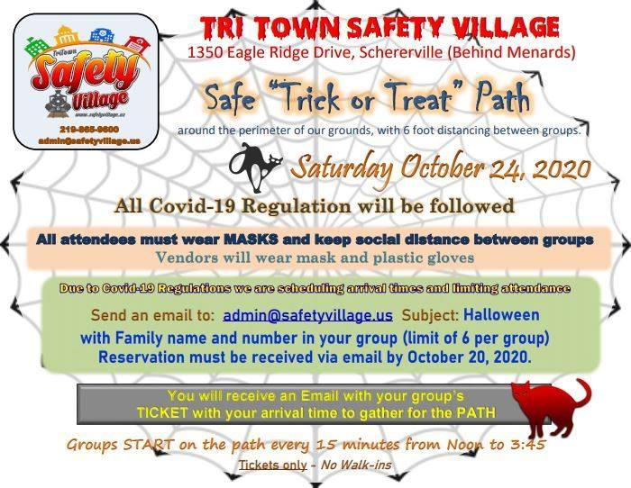 Safety Village Safe Trick Or Treat Path