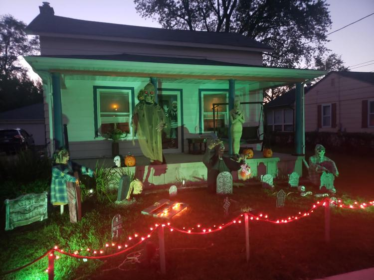 Halloween Decorated Home in Crown Point, 239 S. West St.