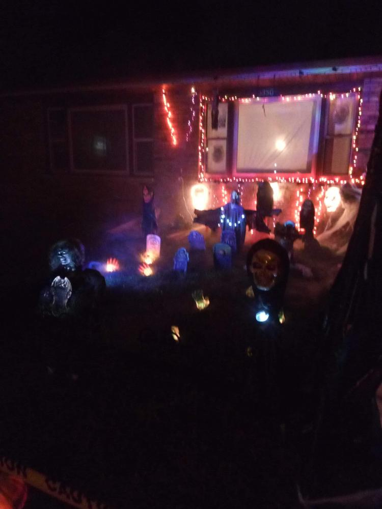 Halloween Decorated Home in Portage, 3350 Oakwood St.