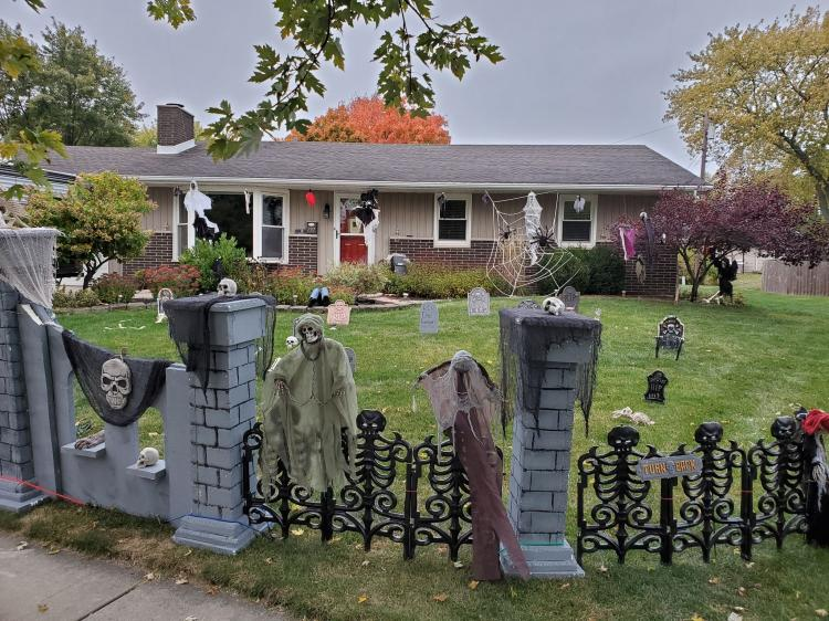 Halloween Decorated Home in Crown Point, 737 Juliana Ct
