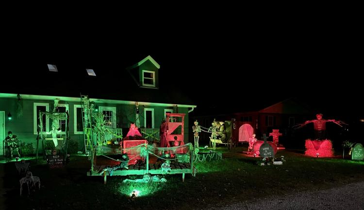 Halloween Decorated Home in Portage, 6078 Mulberry Ave