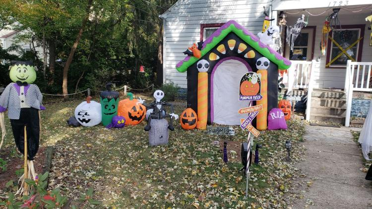 Halloween Decorated Home in Griffith, 1723 N. Jay St.